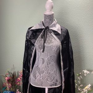Black Sparkly Cape One Size